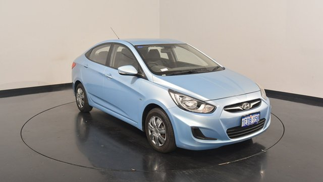 Used Hyundai Accent RB Active, 2013 Hyundai Accent RB Active Clean Blue 4 Speed Sports Automatic Sedan