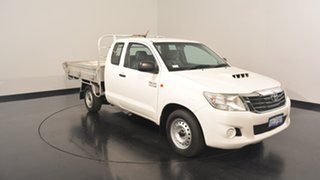 2012 Toyota Hilux KUN16R MY12 SR Xtra Cab 4x2 White 5 Speed Manual Utility.