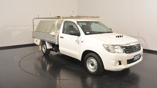 2014 Toyota Hilux KUN16R MY14 SR 4x2 White 5 Speed Manual Cab Chassis.