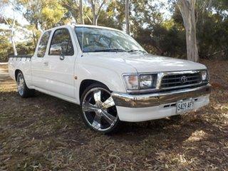 1998 Toyota Hilux RZN154R Xtra Cab 4x2 White 4 Speed Automatic Utility.