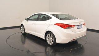2012 Hyundai Elantra MD Premium White 6 Speed Sports Automatic Sedan.