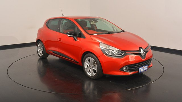 Used Renault Clio IV B98 Expression EDC, 2013 Renault Clio IV B98 Expression EDC Maroon 6 Speed Sports Automatic Dual Clutch Hatchback