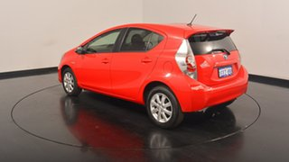 2013 Toyota Prius c NHP10R i-Tech E-CVT Red 1 Speed Constant Variable Hatchback Hybrid.