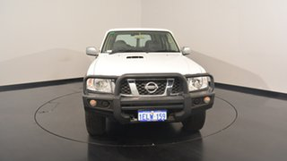2013 Nissan Patrol Y61 GU 9 DX White 5 Speed Manual Wagon
