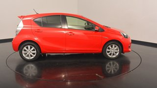 2013 Toyota Prius c NHP10R i-Tech E-CVT Red 1 Speed Constant Variable Hatchback Hybrid