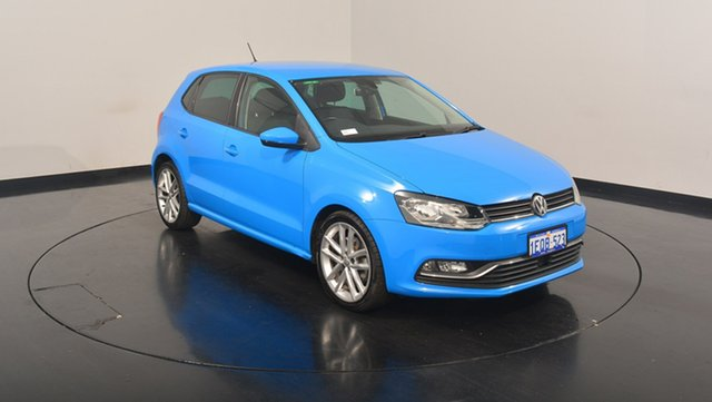 Used Volkswagen Polo 6R MY15 81TSI DSG Comfortline, 2014 Volkswagen Polo 6R MY15 81TSI DSG Comfortline Cornflower Blue 7 Speed