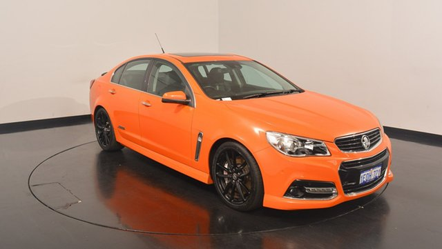 Used Holden Commodore VF MY14 SS V Redline, 2014 Holden Commodore VF MY14 SS V Redline Orange 6 Speed Manual Sedan