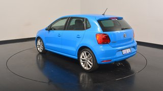 2014 Volkswagen Polo 6R MY15 81TSI DSG Comfortline Cornflower Blue 7 Speed.