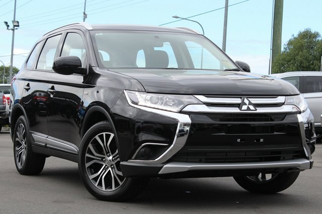 New Mitsubishi Outlander ZL MY18.5 ES 2WD, 2018 Mitsubishi Outlander ZL MY18.5 ES 2WD Black 6 Speed Constant Variable Wagon