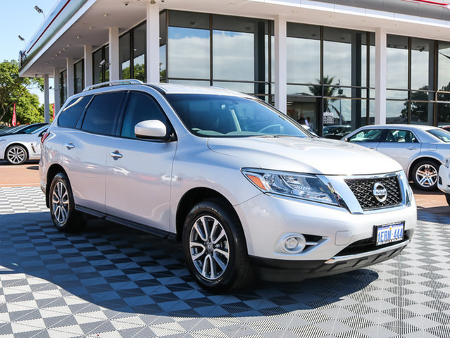 Used Nissan Pathfinder R52 MY14 ST X-tronic 2WD, 2014 Nissan Pathfinder R52 MY14 ST X-tronic 2WD Silver 1 Speed Constant Variable Wagon