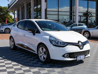 2014 Renault Clio IV B98 Expression EDC White 6 Speed Sports Automatic Dual Clutch Hatchback.