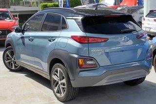 2020 Hyundai Kona OS.3 MY20 Highlander TTR (FWD) Ceramic Blue & Black Roof 6 Speed Automatic Wagon.