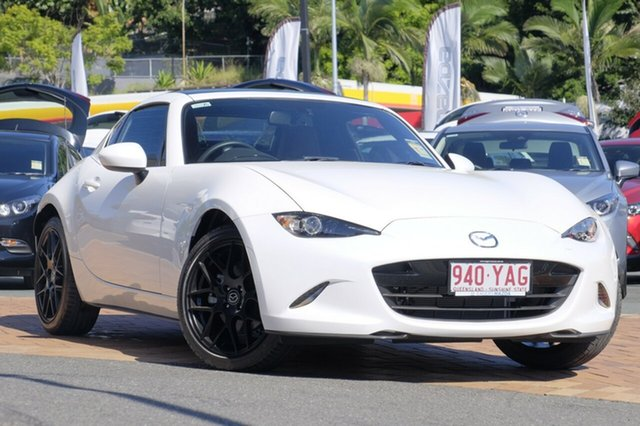 Demo Mazda MX-5 ND GT RF SKYACTIV-MT, 2017 Mazda MX-5 ND GT RF SKYACTIV-MT Crystal White Pearl 6 Speed Manual Targa