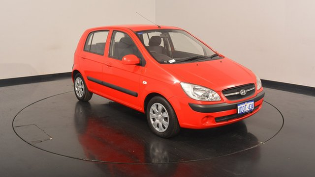 Used Hyundai Getz TB MY09 S, 2009 Hyundai Getz TB MY09 S Red 4 Speed Automatic Hatchback