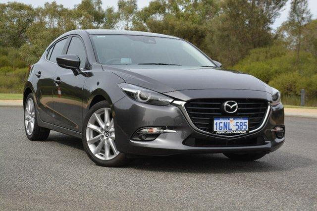 Demo Mazda 3 BN5438 SP25 SKYACTIV-Drive GT, 2017 Mazda 3 BN5438 SP25 SKYACTIV-Drive GT Grey 6 Speed Sports Automatic Hatchback