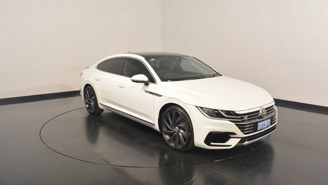 Used Volkswagen Arteon 3H MY18 206TSI Coupe DSG 4MOTION R-Line, 2017 Volkswagen Arteon 3H MY18 206TSI Coupe DSG 4MOTION R-Line Pure White 7 Speed