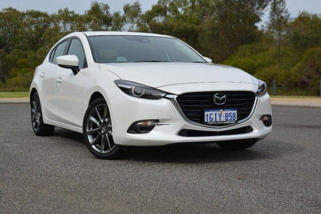 Demo Mazda 3 BN5438 SP25 SKYACTIV-Drive Astina, 2018 Mazda 3 BN5438 SP25 SKYACTIV-Drive Astina White 6 Speed Sports Automatic Hatchback