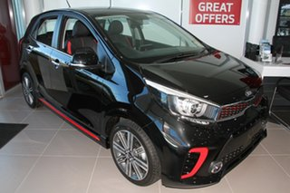 2019 Kia Picanto JA MY19 GT-Line Aurora Black 4 Speed Automatic Hatchback.