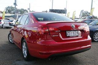 2013 Volkswagen Jetta 1B MY13.5 118TSI DSG Red 7 Speed Sports Automatic Dual Clutch Sedan.