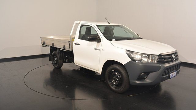 Used Toyota Hilux TGN121R Workmate, 2016 Toyota Hilux TGN121R Workmate White 5 Speed Manual Cab Chassis