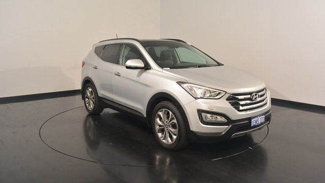Used Hyundai Santa Fe DM MY14 Highlander, 2014 Hyundai Santa Fe DM MY14 Highlander Sleek Silver 6 Speed Sports Automatic Wagon