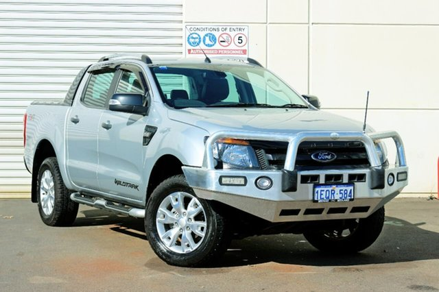 Used Ford Ranger PX Wildtrak Double Cab, 2014 Ford Ranger PX Wildtrak Double Cab Silver 6 Speed Sports Automatic Utility