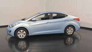 2012 Hyundai Elantra MD Active Blue 6 Speed Manual Sedan.