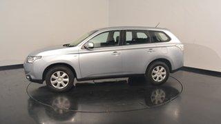 2012 Mitsubishi Outlander ZJ MY13 ES 4WD Cool Silver 6 Speed Constant Variable Wagon.
