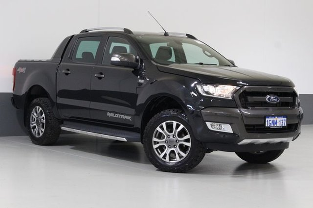 Used Ford Ranger PX MkII Wildtrak 3.2 (4x4), 2015 Ford Ranger PX MkII Wildtrak 3.2 (4x4) Black 6 Speed Automatic Dual Cab Pick-up