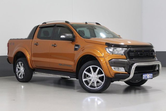 Used Ford Ranger PX MkII Wildtrak 3.2 (4x4), 2016 Ford Ranger PX MkII Wildtrak 3.2 (4x4) Orange 6 Speed Automatic Dual Cab Pick-up