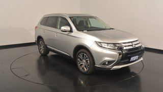 2017 Mitsubishi Outlander ZK MY17 LS 4WD Sterling Silver 6 Speed Constant Variable Wagon.