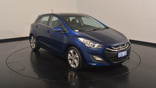 Used Hyundai i30 GD MY14 Premium, 2013 Hyundai i30 GD MY14 Premium Blue 6 Speed Sports Automatic Hatchback