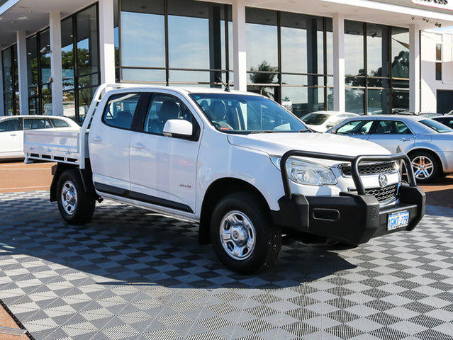 Used Holden Colorado RG MY13 LX Crew Cab, 2013 Holden Colorado RG MY13 LX Crew Cab White 5 Speed Manual Cab Chassis