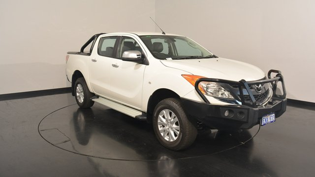 Used Mazda BT-50 UP0YF1 GT, 2014 Mazda BT-50 UP0YF1 GT White 6 Speed Manual Utility