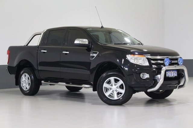 Used Ford Ranger PX XLT 3.2 (4x4), 2015 Ford Ranger PX XLT 3.2 (4x4) Black 6 Speed Automatic Dual Cab Utility