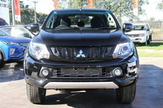 2018 Mitsubishi Triton MQ MY18 Blackline Double Cab Pitch Black 5 Speed Sports Automatic Utility