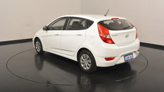 2016 Hyundai Accent RB4 MY16 Active Crystal White 6 Speed Constant Variable Hatchback.