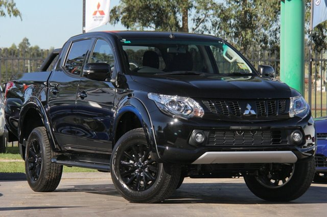 New Mitsubishi Triton MQ MY18 Blackline Double Cab, 2018 Mitsubishi Triton MQ MY18 Blackline Double Cab Pitch Black 5 Speed Sports Automatic Utility