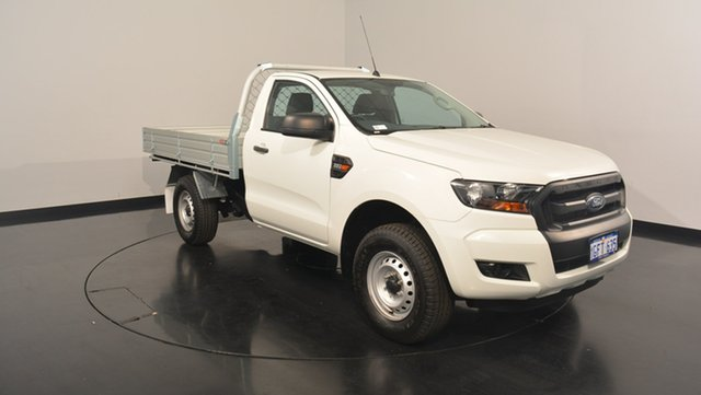 Used Ford Ranger PX MkII XL 4x2 Hi-Rider, 2016 Ford Ranger PX MkII XL 4x2 Hi-Rider Cool White 6 Speed Manual Cab Chassis