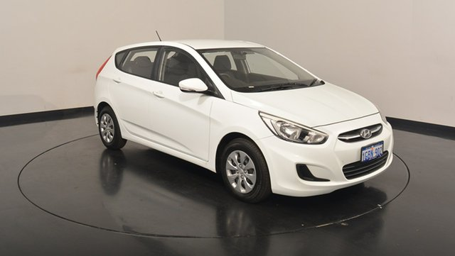 Used Hyundai Accent RB4 MY16 Active, 2016 Hyundai Accent RB4 MY16 Active Crystal White 6 Speed Constant Variable Hatchback