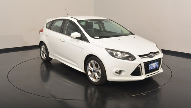 Used Ford Focus LW MKII Sport PwrShift, 2014 Ford Focus LW MKII Sport PwrShift White 6 Speed Sports Automatic Dual Clutch Hatchback