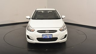 2016 Hyundai Accent RB4 MY16 Active Crystal White 6 Speed Constant Variable Hatchback