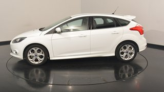 2014 Ford Focus LW MKII Sport PwrShift White 6 Speed Sports Automatic Dual Clutch Hatchback.