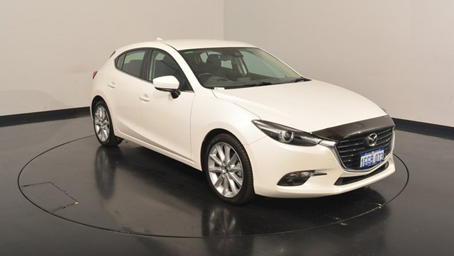 Used Mazda 3 BN5438 SP25 SKYACTIV-Drive GT, 2017 Mazda 3 BN5438 SP25 SKYACTIV-Drive GT White 6 Speed Sports Automatic Hatchback