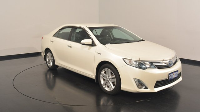 Used Toyota Camry AVV50R Hybrid HL, 2013 Toyota Camry AVV50R Hybrid HL White 1 Speed Constant Variable Sedan Hybrid