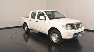 2013 Nissan Navara D40 S7 MY12 RX 4x2 White 5 Speed Automatic Utility.