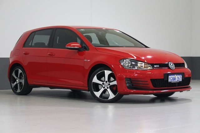 Used Volkswagen Golf AU MY15 GTi, 2015 Volkswagen Golf AU MY15 GTi Red 6 Speed Direct Shift Hatchback