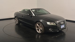 2012 Audi A5 8T MY12 S tronic quattro Black 7 Speed Sports Automatic Dual Clutch Cabriolet.
