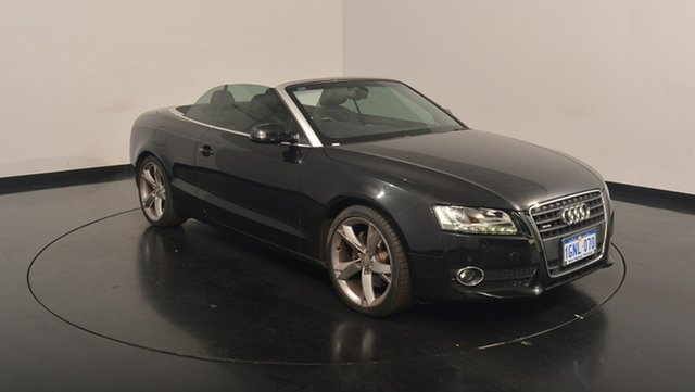 Used Audi A5 8T MY12 S tronic quattro, 2012 Audi A5 8T MY12 S tronic quattro Black 7 Speed Sports Automatic Dual Clutch Cabriolet