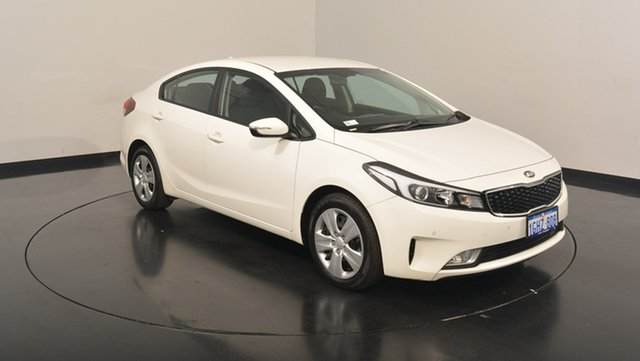 Used Kia Cerato YD MY17 S, 2017 Kia Cerato YD MY17 S Clear White 6 Speed Sports Automatic Sedan